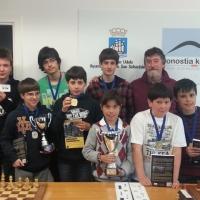 Excelente resultado en el escolar por equipos de Gipuzkoa: campeones en alevines y subcampeones en infantiles