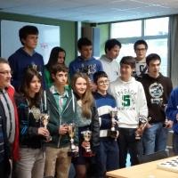 Campeones de Euskadi: Santi González, absoluto; Alejandro Bernal, Juvenil y Jon Lagos, Cadete