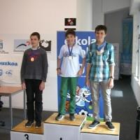 Ander Tafall Campeón Infantil e Ivan Iturralde Campeón Alevín del Escolar Individual de Gipuzkoa. Patxi Moreno, Subcampeón Infantil