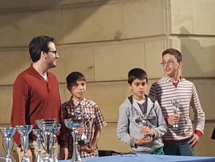 Ander y Pablo en el podio Sub-14