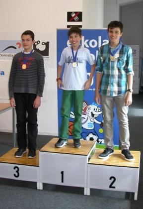 Campeonato Eskolar de Gipuzkoa 2015, dos de nuestros jugadores terminaron el el Podio. Ander tafall (campeón) y Patxi Moreno (subcampeón)