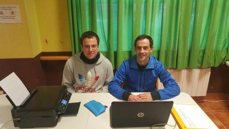 Asier Cuesta y Carlos Pascual árbitro auxiliar y principal de este evento
