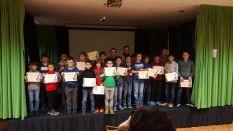 Todos los participantes con sus premios