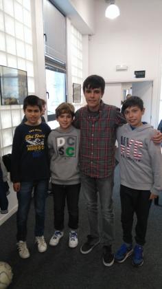 Nuestros jugadores en el Campeonato Individual escolar de Gipuzkoa: Pablo Zaporta, Jon Gomez, Patxi Moreno y Ander tafall