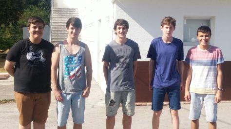Jóvenes talentos del ajedrez vasco: Markel Zuloaga, Aritz Abalia, Ibai Dorronsoro, Imanol Toledo y Patxi Moreno