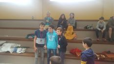 Podio del Sub16+Sub12: Patxi Moreno (1º), Andres Malon (2º) y Josu Manterola (3º)