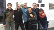 Patxi Moreno, Iker Arri, Goio Uriarte, Carlos Pascual, Mikel Tafall eta Ander Tafall, jardunaldia hasi aurretik