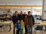 El domingo los tafall recibieron la visita de una pequeña delegación del club formado por Asier Cuesta, Patxi Moreno y Goio Uriarte