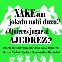El nuevo curso de ajedrez 2019-2020 de la Xake Eskola comenzará el 24 de septiembre ¡Anímate!