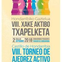 8º Torneo Activo de Ajedrez Castillo de Hondarribia ¡Completada ya la lista de 50 participantes!