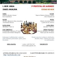 Abierto el plazo de inscripción del Ier Festival de Ajedrez Ciudad de Irun del Club (ABSOLUTO+SUB16)