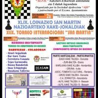 XLIX Torneo Internacional San Martín de Loinatz de Ajedrez, Fomento Cultural campeón. Nuestro equipo ha logrado el 4º puesto
