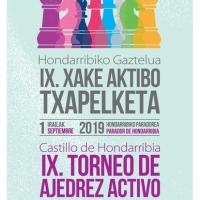 9º Torneo Activo de Ajedrez Castillo de Hondarribia ¡Completada ya la lista de 50 participantes!