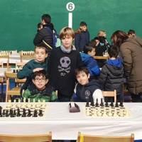 Representación Marlaxkera ayer en el XXº torneo de ajedrez Mikel Gurea de Burlada