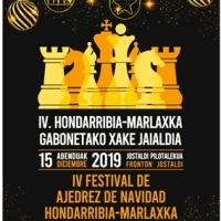 El domingo se celebrará el 4º Festival de Ajedrez de Navidad Hondarribia - Marlaxka (Sub16 + Absoluto)