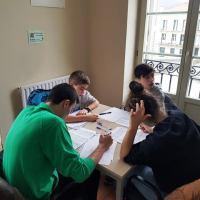 Quinta sesión presencial del plan de tecnificación 2019-2020 de la FVA-EXF para los jóvenes talentos de Euskadi que imparte el FM Jesús Iruzubieta hoy en Hondarribia